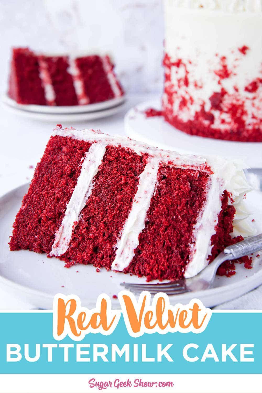 Classic Red Velvet Cake Recipe Cream Cheese Frosting Sugar Geek Show Recipe In 2020 Velvet Cake Recipes Red Velvet Cake Recipe Real Red Velvet Cake Recipe