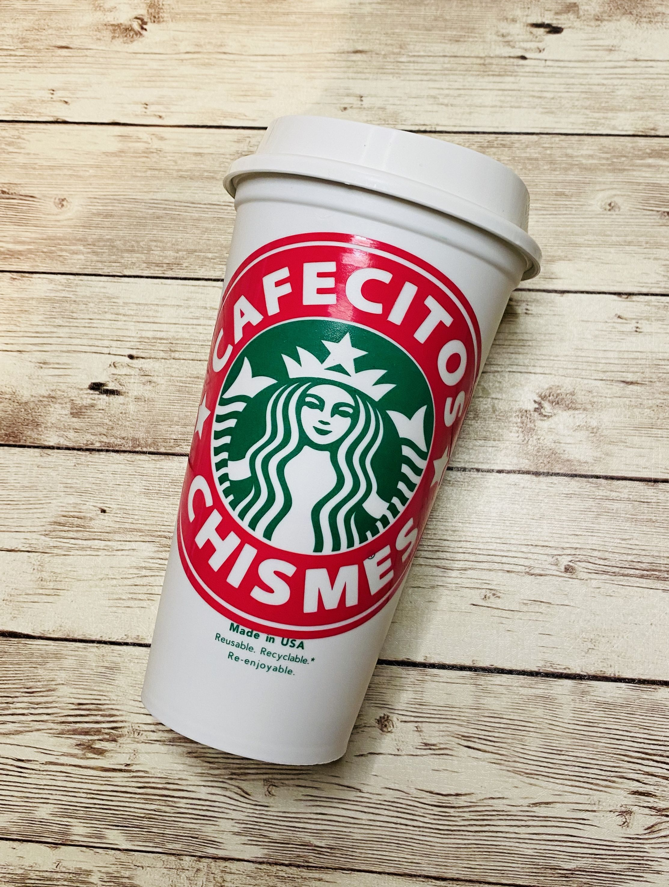 Cafecitos And Chismes Hot Cup Free Svg In 2020 Custom Starbucks Cup Free Svg Starbucks