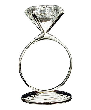 A Fun Diamond Ring Candle Holder I Really Want This