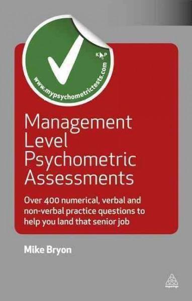 Management Level Psychometric Assessments  Over 400
