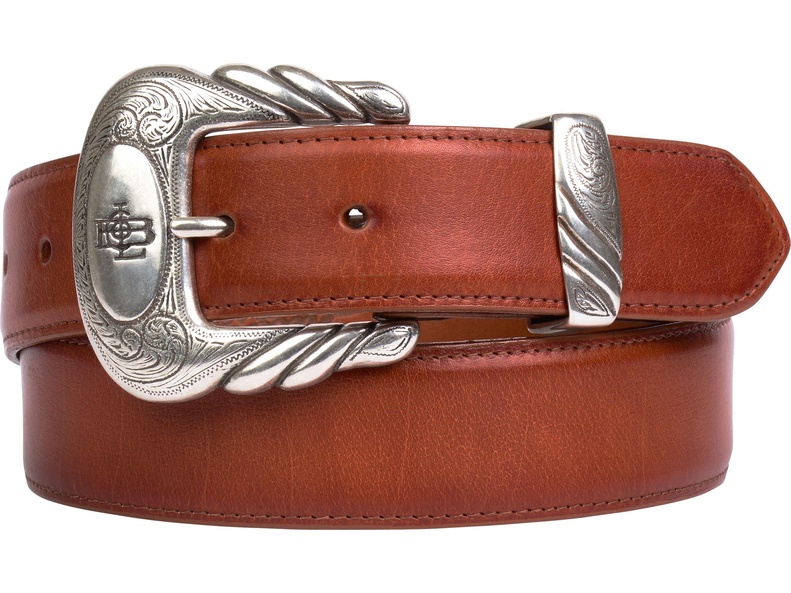 Lucchese Men's Belt | Baby Buffalo in Cognac Brown