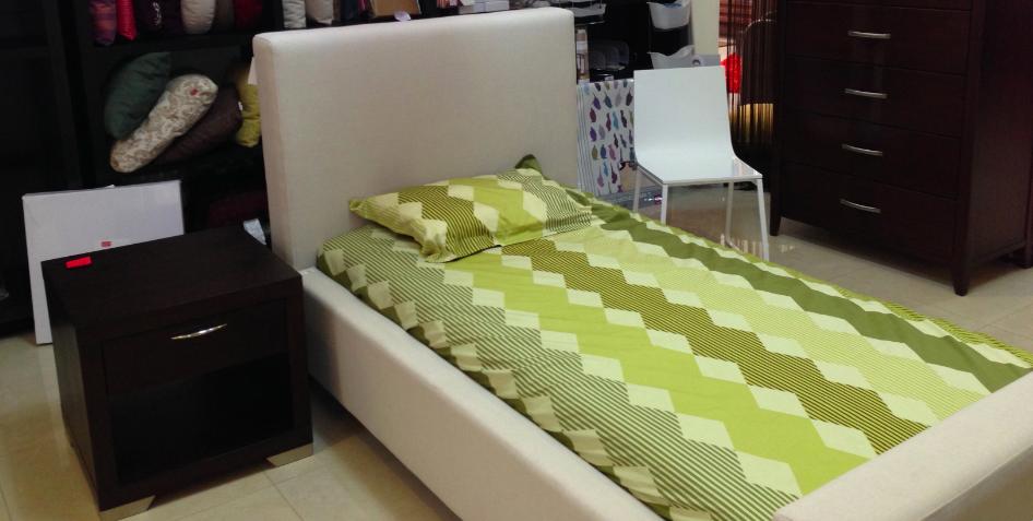 Green! Bedroom #EQ3ModernFurniture www.aruba-furniture.com