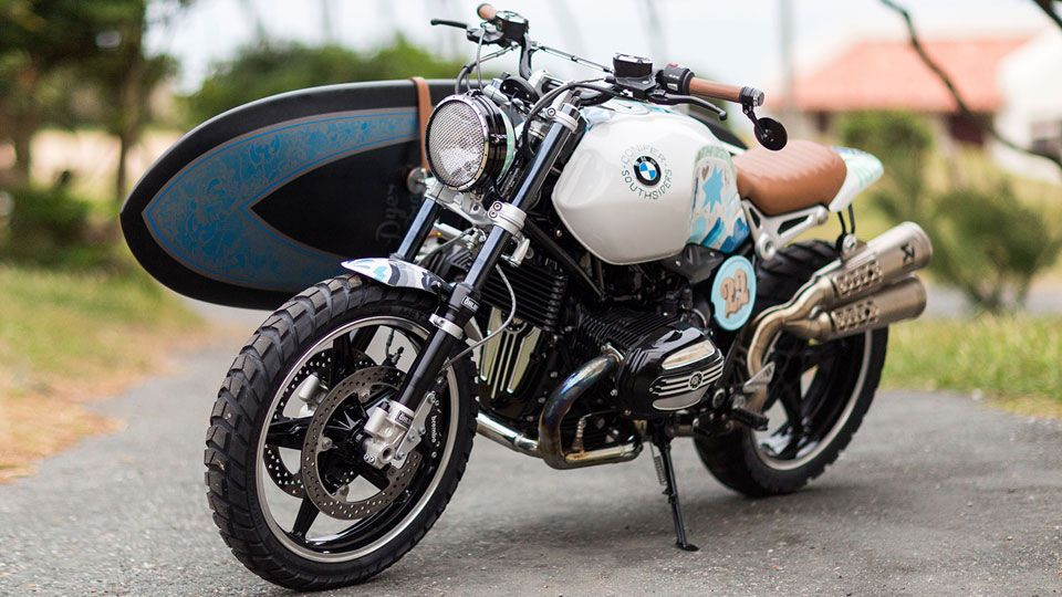 bmw's concept motorcycle carries your surfboard | bmw s, concept