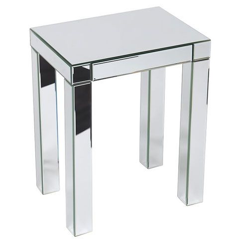 Reflections Silver Mirrored Accent Table Avenue Six End Tables Living Room F