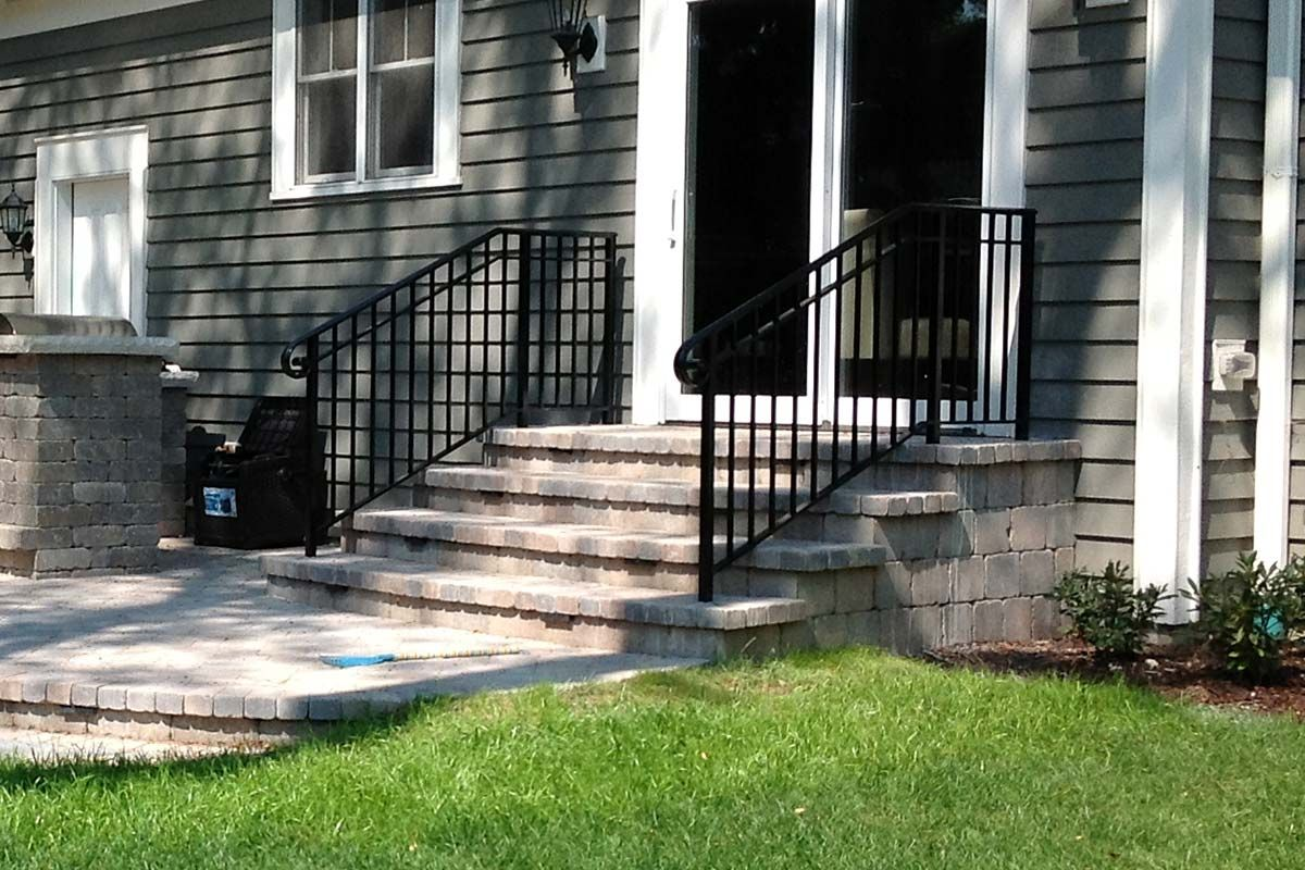 Sleek and clean iron stair railings designed and installed by first