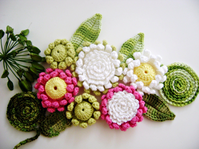 FLORES EM CROCHÊ 023 - FLOR VITÓRIA-RÉGIA 3 | Crochet Flowers and ...