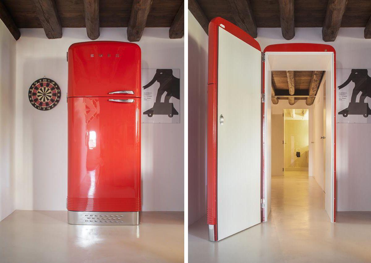 Unusual Interior Door Disguises As A Fridge Doors Interior