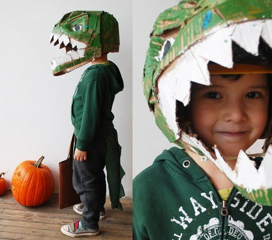 Cardboard Dino Head