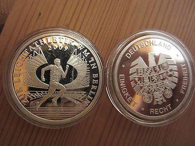Gedenkprägung Zu Den 10 Euro Münzenleichtathletik Wm2009 Pp