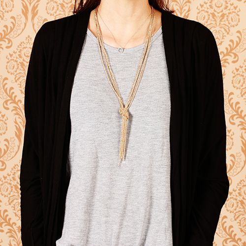 MISS A :: No.1 Accessory Shop :: NECKLACES :: Metal :: Alexandra Chunky Tassel Necklace