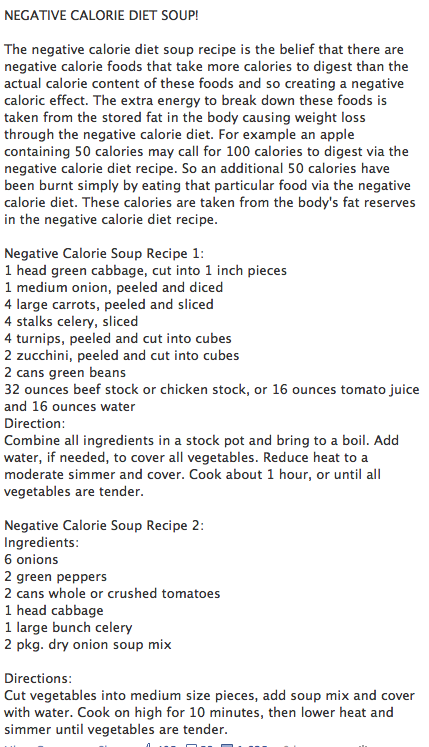 Negative Calorie Diet Soup (you Can Add Crushed Garlic And
