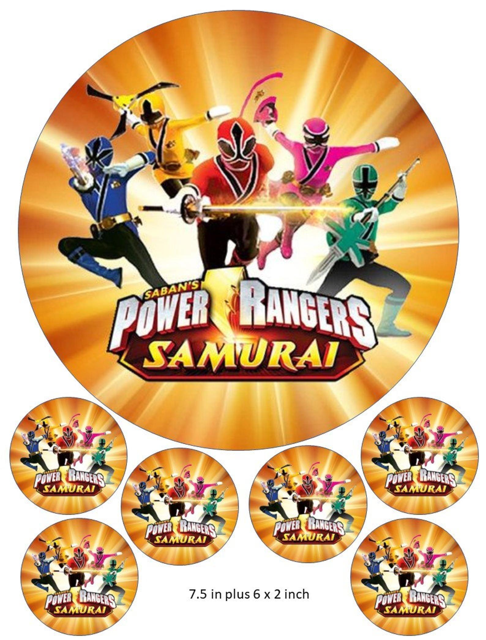 Power rangers cake and cupcake topper samurai ninja