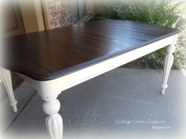 Cottage Charm Creations Painting A Two Tone Table Home