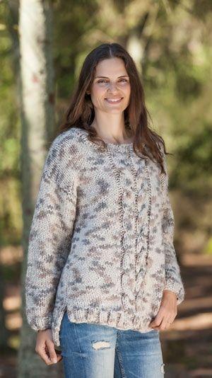 Strikkeopskrift: Sweater med snoninger #strikkeopskriftsweater Strikkeopskrift: Sweater med snoninger #strikkeopskriftsweater
