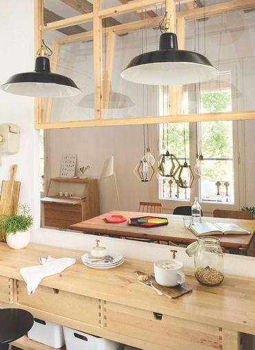 Cocinas con pasaplatos 6 soluciones para comunicar cocina for Separacion de muebles cocina comedor