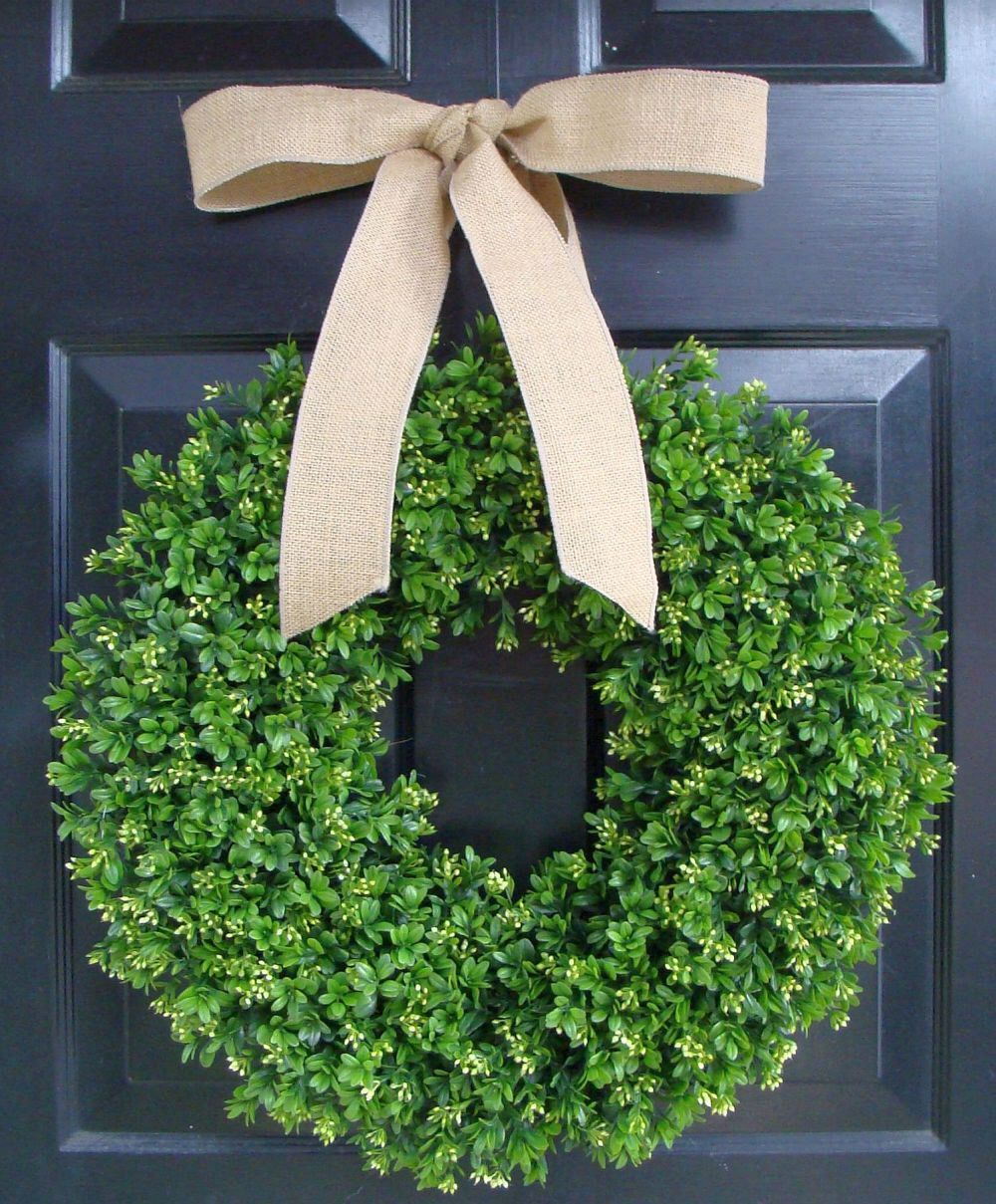 Faux boxwood wreath artificial boxwood decor year round wreath