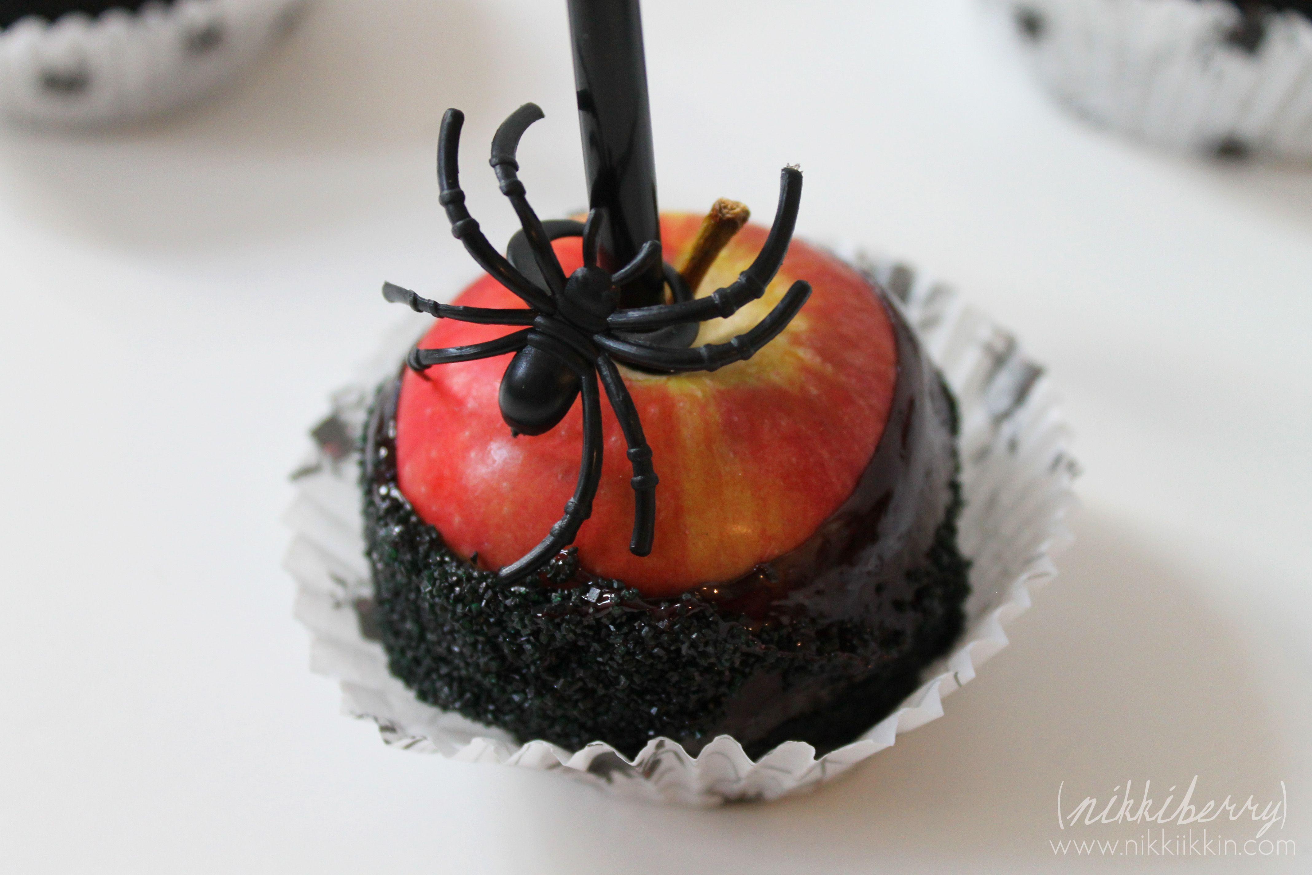 Black Magic Candy Apples