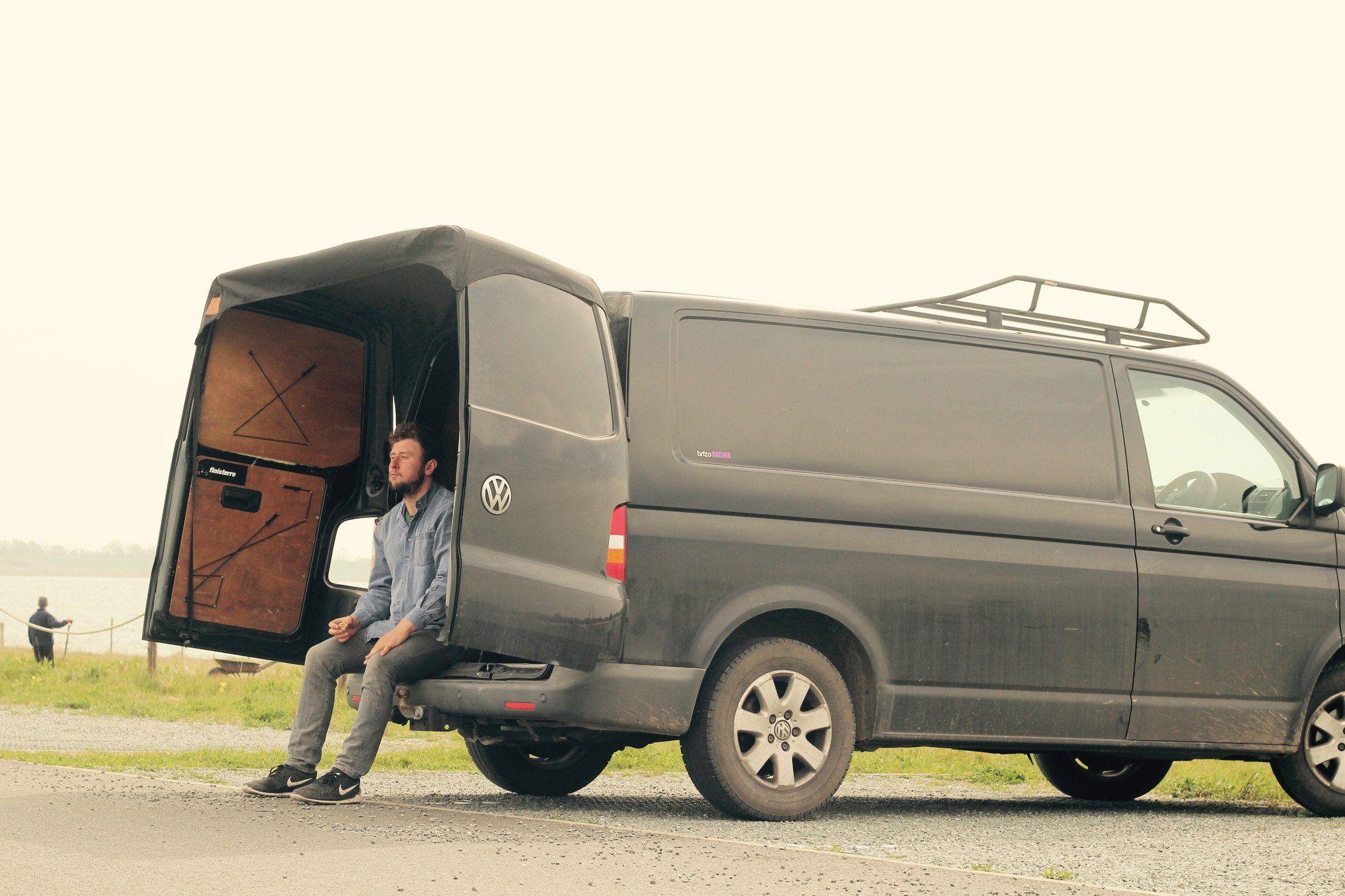 Volkswagen Transporter Barn Door Awning Tinyhousevan