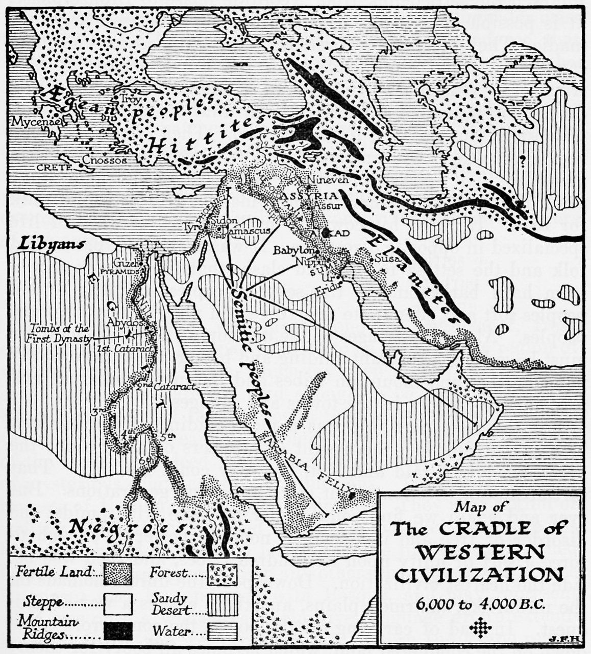 A Map Of The Cradle Of Civilizations