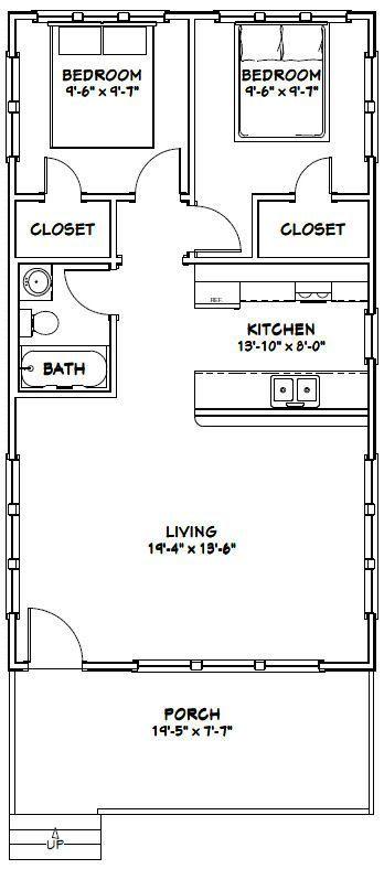 20x36 House -- #20X36H2 -- 720 sq ft - Excellent Floor Plans | Shed on 16x30 house, 12x12 house, 24x40 house, 10x10 house, 20x24 house, 20x25 house, 24x30 house, 16x32 house, 14x28 house, 20x40 house,