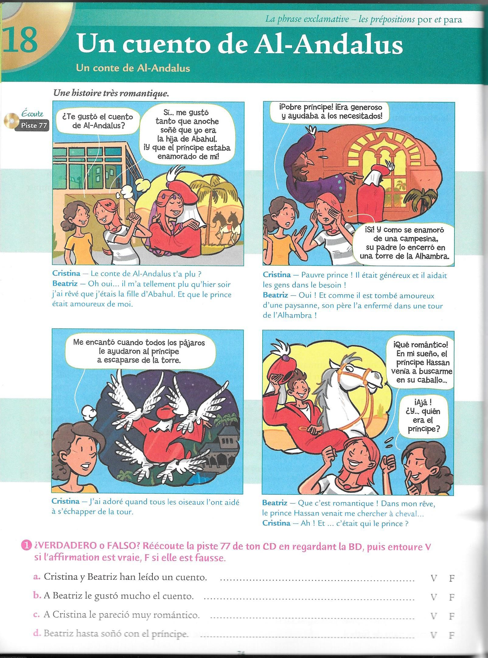 A Ce Soir En Espagnol : espagnol, Épinglé, FLECHER, ANDALUS, Cours, Espagnol,, Idées, Salles, Classe