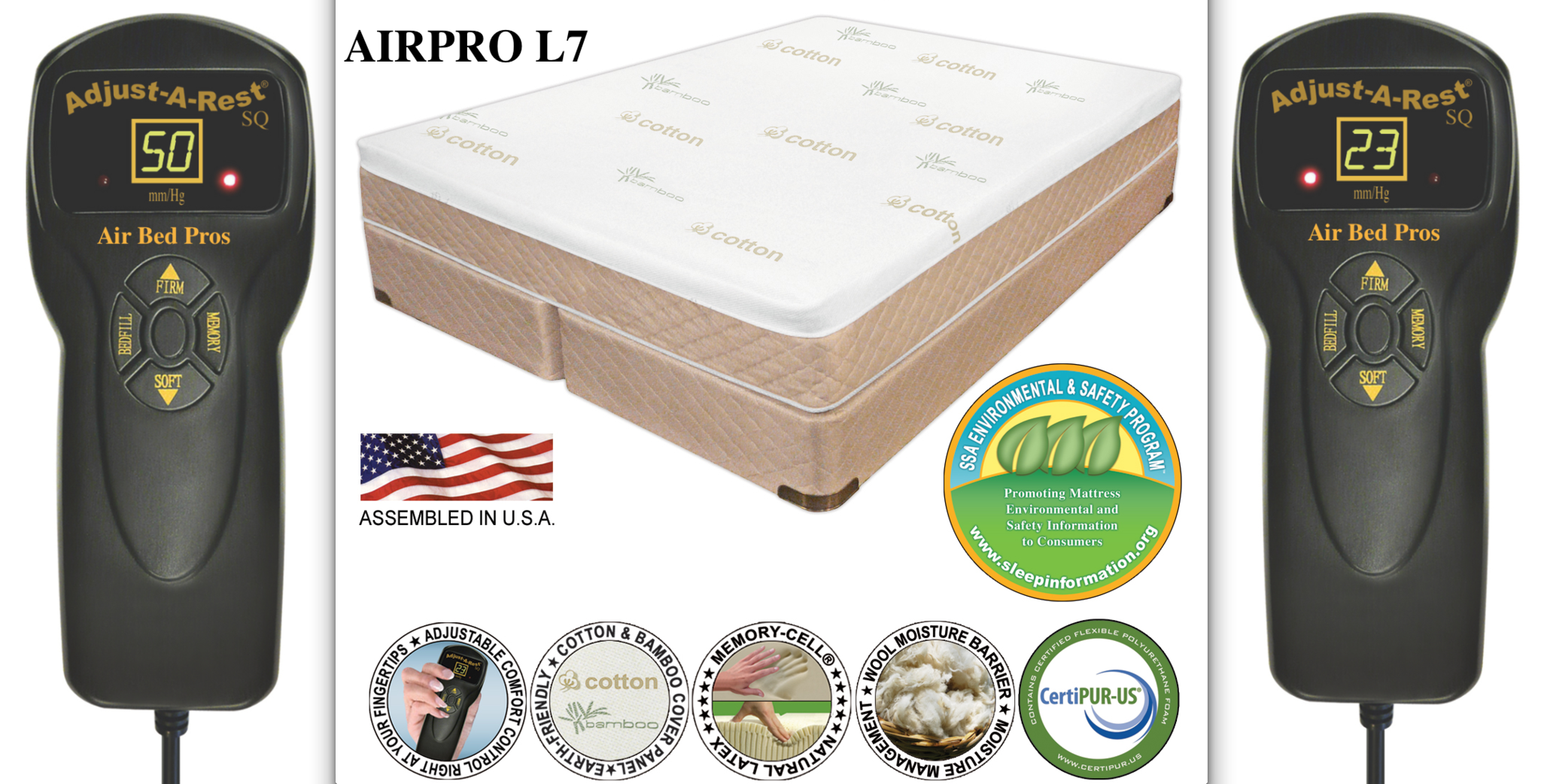 AIRPRO L7 Air Bed Compare to Sleep Number® m7 Bed, Bed