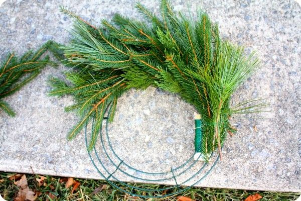 Decor - Make a pine / evergreen wreath.  These instructions are detailed with several pics.  Great DIY instructions