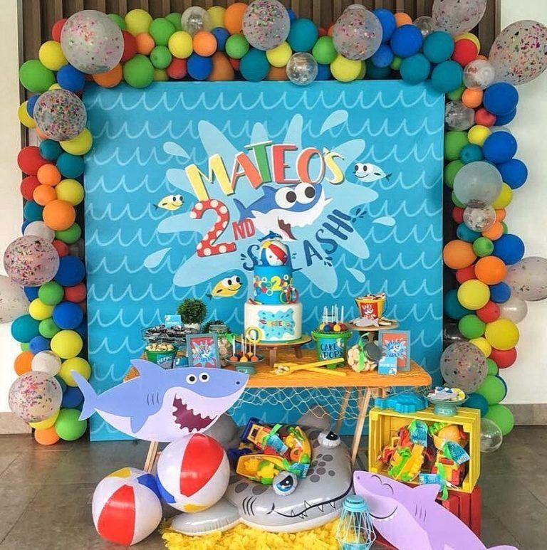 Fiesta Baby Shark Shark Theme Birthday Shark Themed Birthday Party
