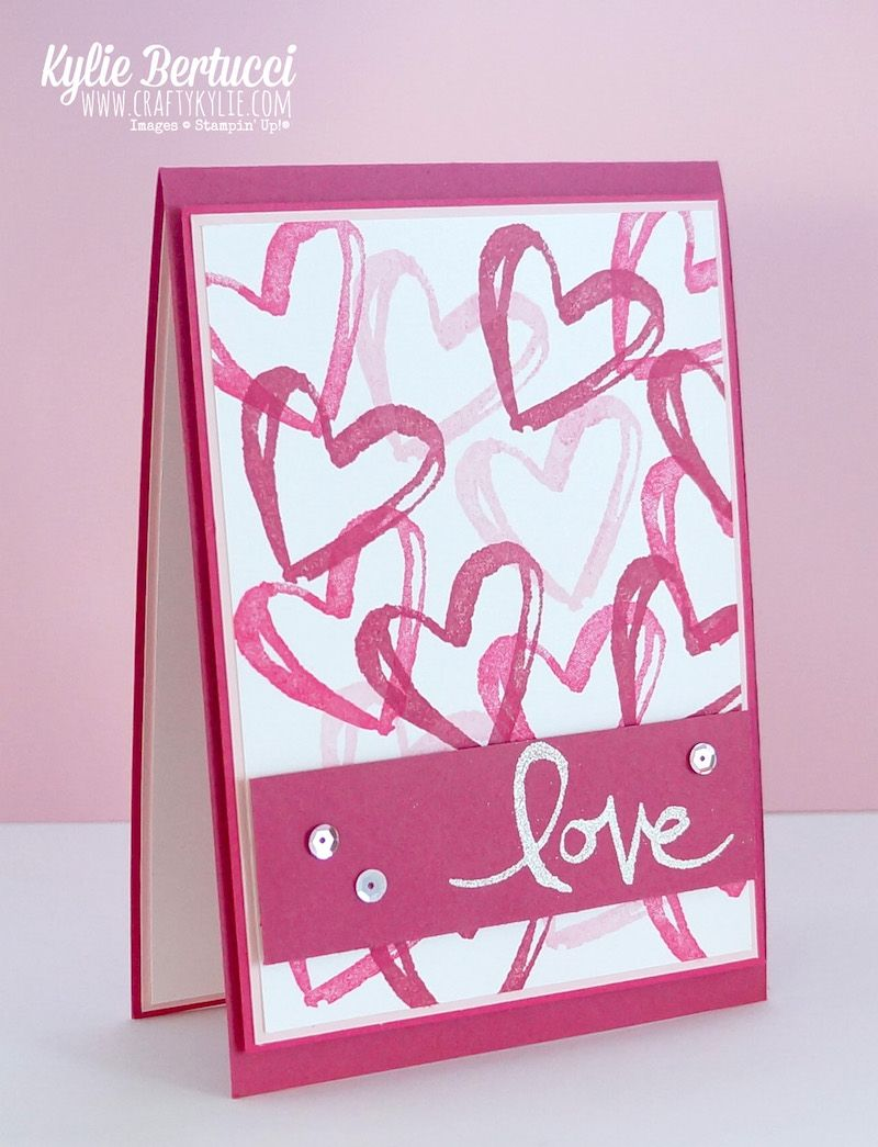 Watercolor Words Showing Love Stampin Up Only Pinterest