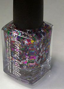 NEW FEMME FATALE NAIL PARTY GRENADE POLISH MULTI DIAMOND SQUARE GLITTER INDIE