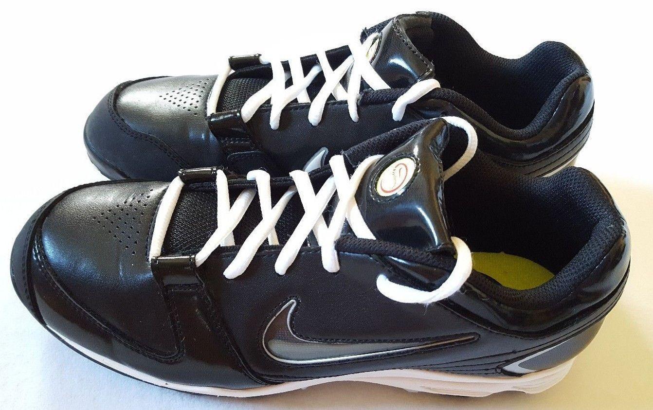 86ebb4f1f886 NIKE UNIFY KEYSTONE Women s Softball Baseball Cleats Black White Shoes 9  415180