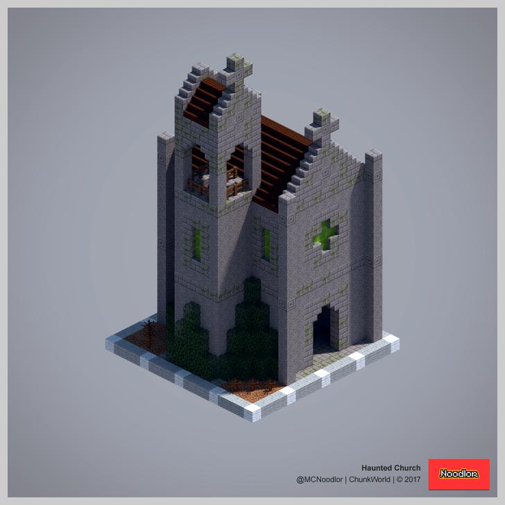 Haunted Church Minecraftfurniture Minecraft Pinterest