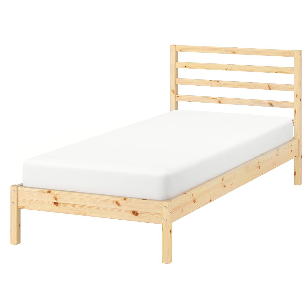 TARVA Bed frame pine, Luröy Standard Single Bed frame