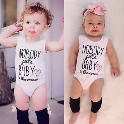 Infant Newborn Baby Girl Boy Kid Cotton Romper Bodysuit Jumpsuit Outfit Clothes