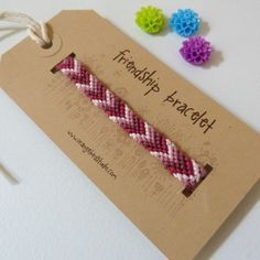Friendship Bracelet Love I can remember making these for hours and hours! …