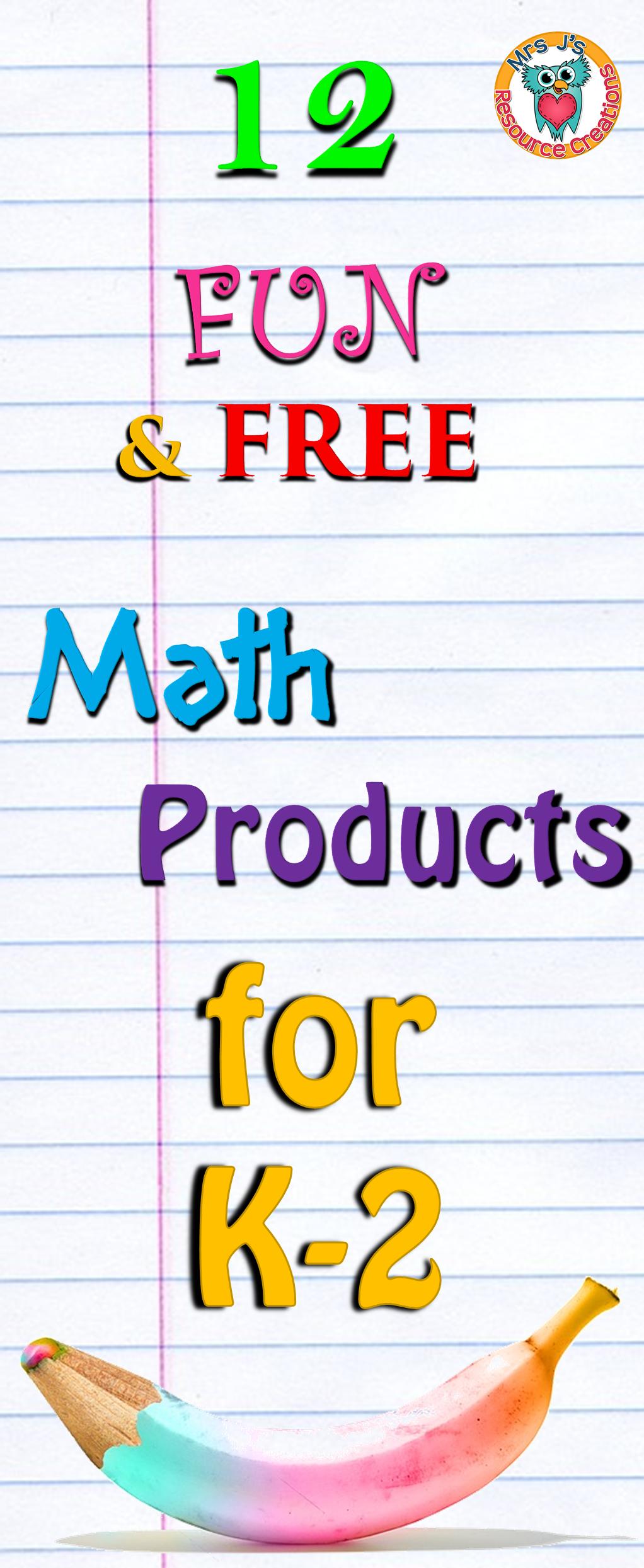 12 FREE K-2 Math Resources to Try! | Montessori Math | Pinterest ...