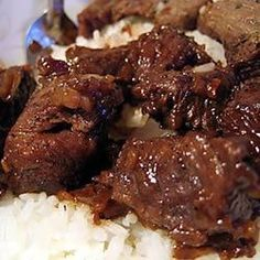 Kicky Steak Strips With Rice Recipe Food Recipes