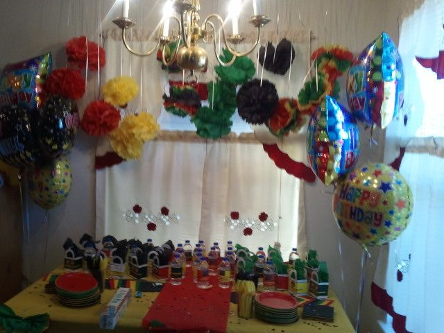 My decor at my friend reggae style birthday party My next big