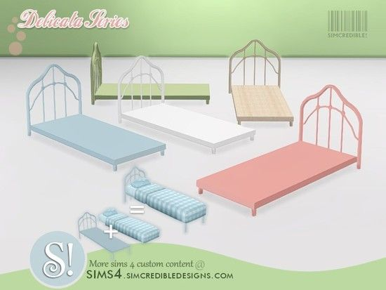 SIMcredible s Delicata toddlers bed frame