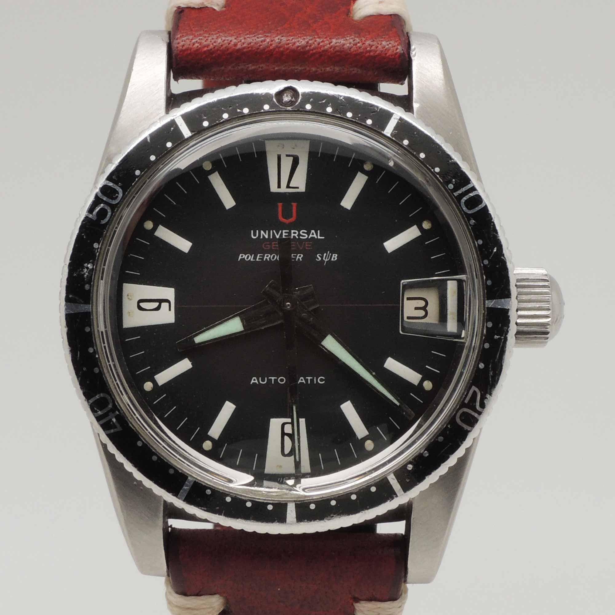 Universal Geneve Polerouter Sub Ref 869116 Venta De Relojes Reloj De Acero Inoxidable Reloj Vintage