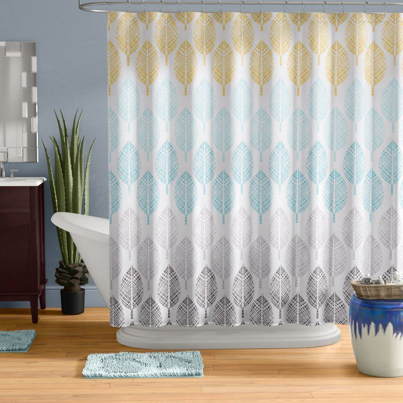 Bungalow Rose Kopf Printed Single Shower Curtain Curtains