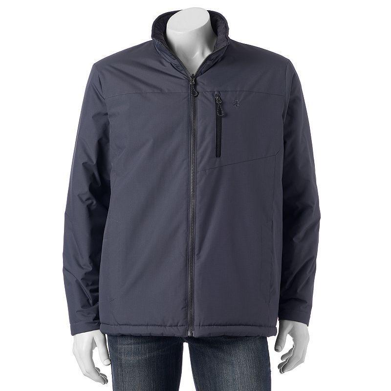 Men's IZOD Reversible Ripstop Jacket, Size: Medium, Dark Grey