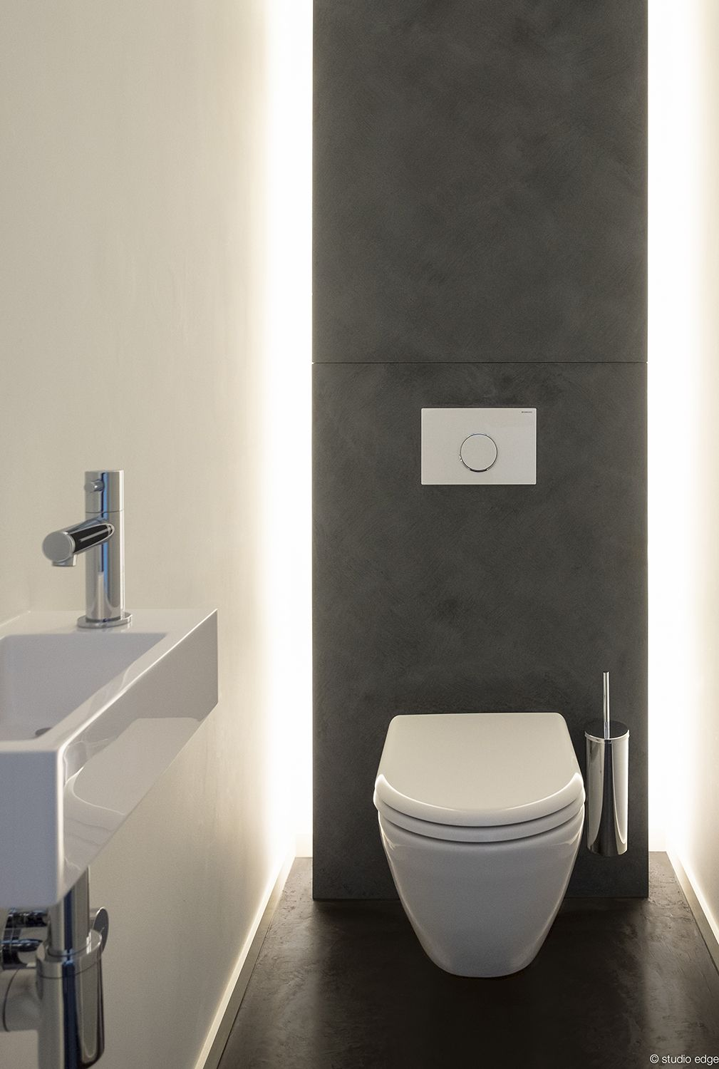 studio edge • interior design • design of a toilet with indirect lighting • www.studio-edge.be