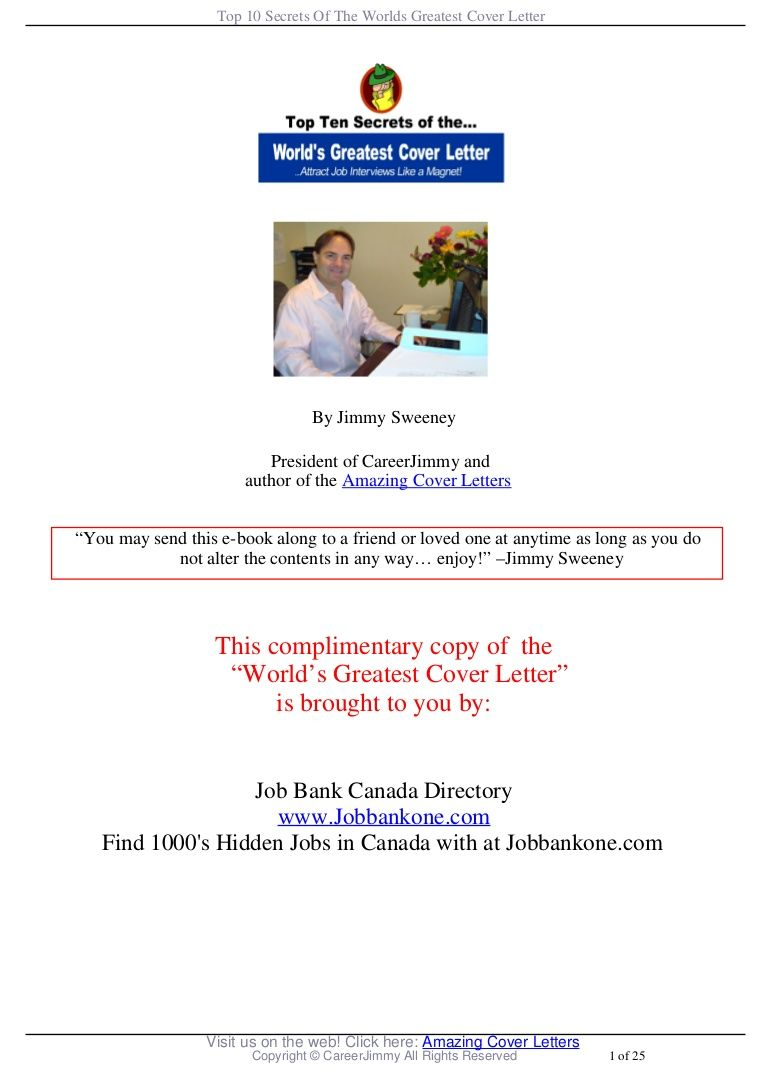 jimmy sweeney cover letter samples