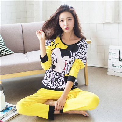 1acc2462e810  Cute  Pajamas  yellow  cartoon  animated  Soft  Sleepwear  nightwear  buy   pin…