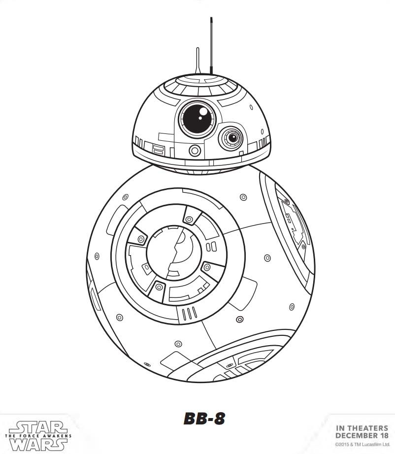 STAR WARS: THE FORCE AWAKENS - Coloring & Activity Sheets - BB-8 ...