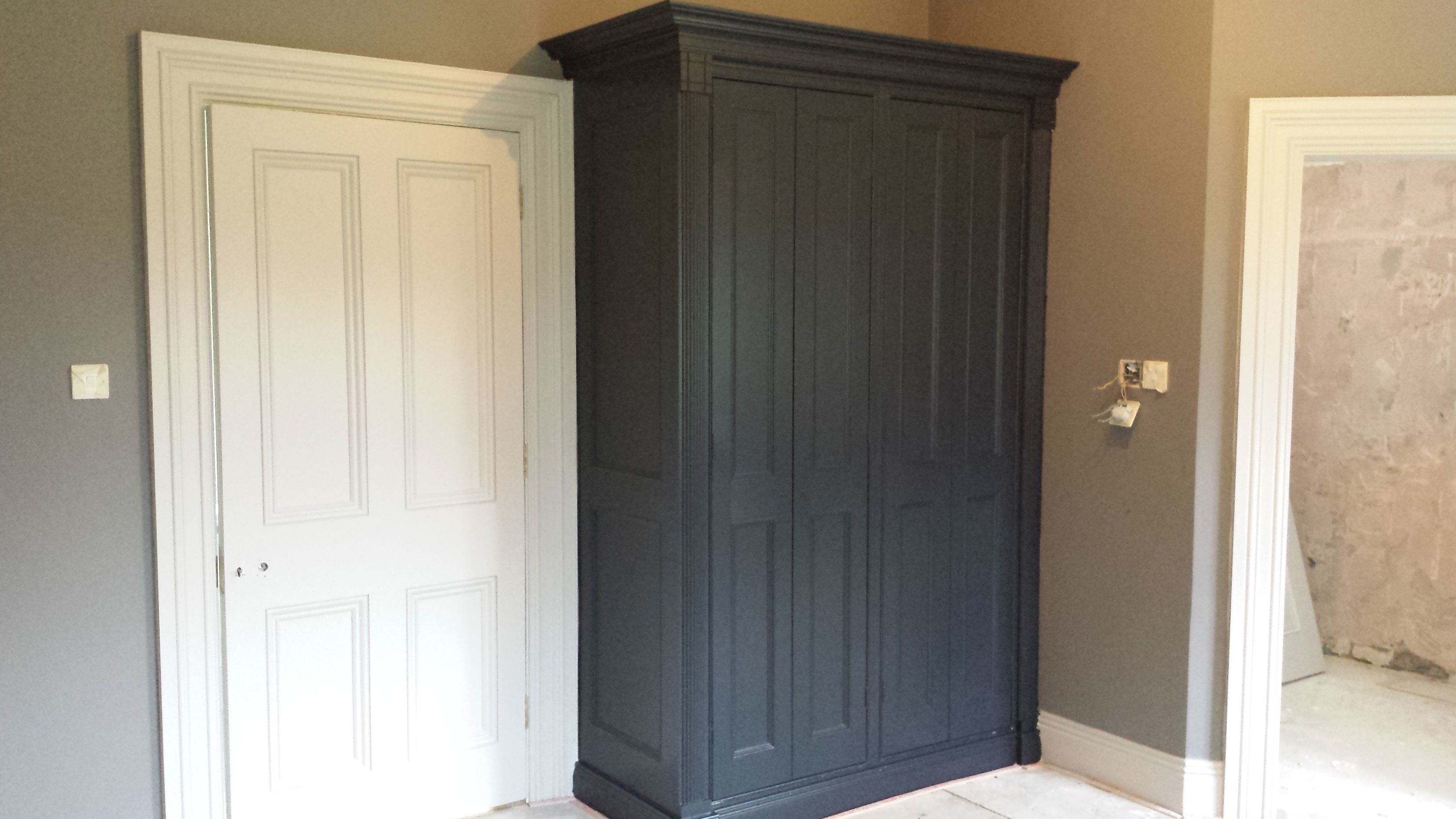 Wardrobe Painted With Farrow Ball Paint Colour Is Railings Small Bedroom Remodel Guest Bedroom Remodel Remodel Bedroom
