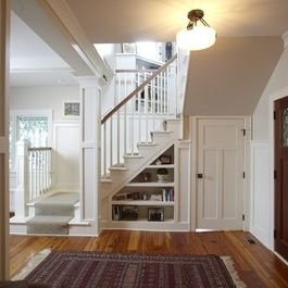 Traditional Home Split Level Entryway Remodel Ideas Design Ideas Pictures Remodel And Decor Basement Craftsman Staircase Stairs Design Staircase Design