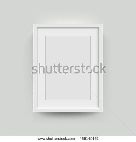 A3 A4 Vertical Blank Picture Frame For Photographs Vector