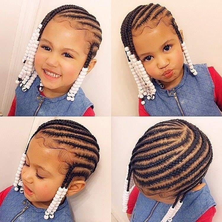 Kiddie Cornrolls Cute Hairstyles For Kids Kids Hairstyles Little Girl Braids
